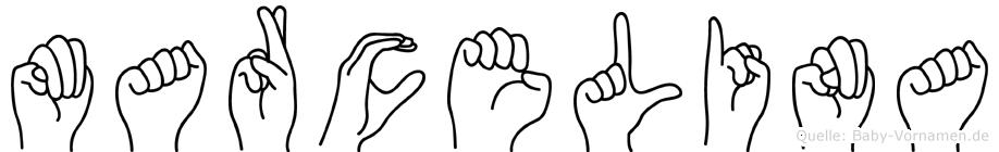 Marcelina im Fingeralphabet der Deutschen Gebärdensprache