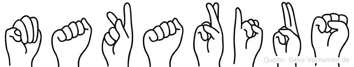 Makarius in Fingersprache für Gehörlose