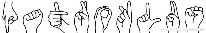 Patroklus in Fingersprache für Gehörlose