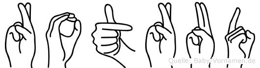Rotrud in Fingersprache für Gehörlose