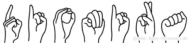 Diomira in Fingersprache für Gehörlose