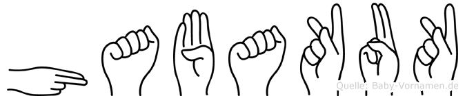 Habakuk im Fingeralphabet der Deutschen Gebärdensprache