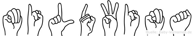 Mildwina in Fingersprache f�r Geh�rlose