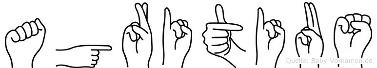 Agritius in Fingersprache für Gehörlose