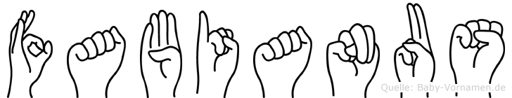 Fabianus in Fingersprache für Gehörlose