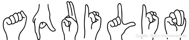 Aquilin in Fingersprache für Gehörlose