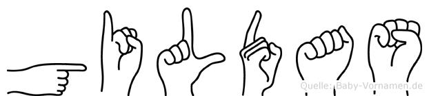 Gildas in Fingersprache für Gehörlose
