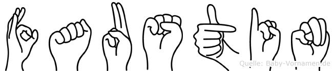 Faustin in Fingersprache für Gehörlose