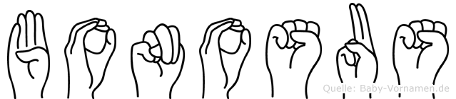 Bonosus in Fingersprache für Gehörlose