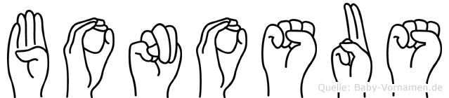 Bonosus in Fingersprache f�r Geh�rlose