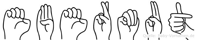 Ebermut in Fingersprache für Gehörlose