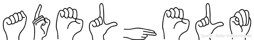 Adelhelm im Fingeralphabet der Deutschen Gebärdensprache