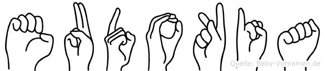 Eudokia in Fingersprache für Gehörlose