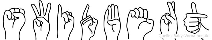 Swidbert in Fingersprache für Gehörlose