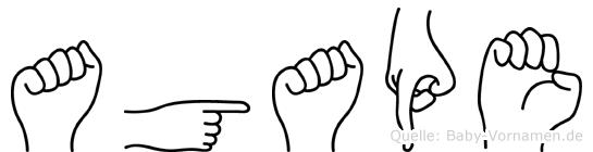Agape in Fingersprache für Gehörlose