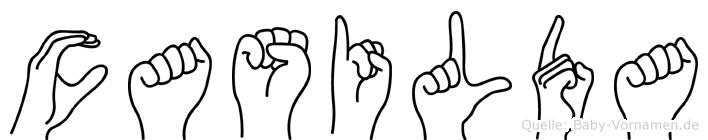 Casilda in Fingersprache für Gehörlose
