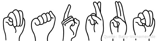 Madrun in Fingersprache für Gehörlose
