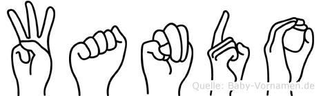 Wando im Fingeralphabet der Deutschen Gebärdensprache