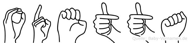 Odetta im Fingeralphabet der Deutschen Gebärdensprache