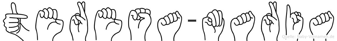 Teresa-Maria im Fingeralphabet der Deutschen Gebärdensprache