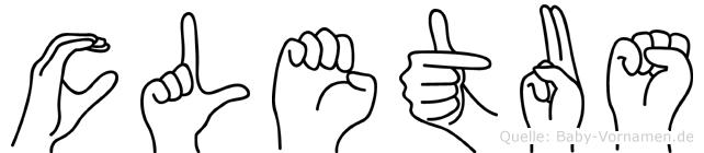 Cletus in Fingersprache für Gehörlose