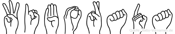Wiborada in Fingersprache für Gehörlose