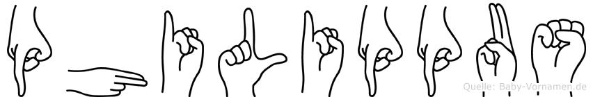 Philippus in Fingersprache für Gehörlose