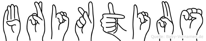 Briktius im Fingeralphabet der Deutschen Gebärdensprache