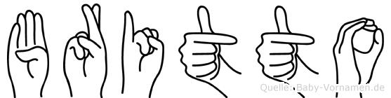 Britto im Fingeralphabet der Deutschen Gebärdensprache