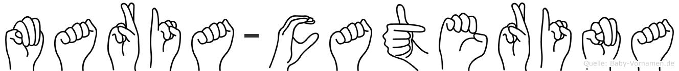 Maria-Caterina im Fingeralphabet der Deutschen Gebärdensprache