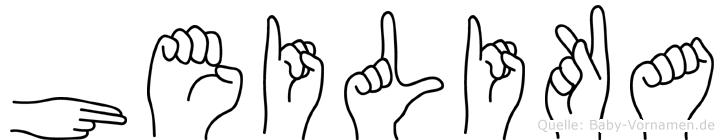 Heilika im Fingeralphabet der Deutschen Gebärdensprache