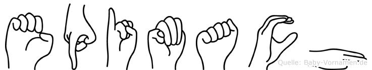 Epimach im Fingeralphabet der Deutschen Gebärdensprache