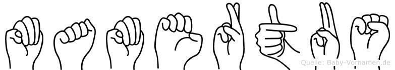 Mamertus in Fingersprache für Gehörlose