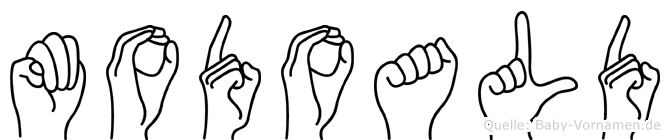 Modoald im Fingeralphabet der Deutschen Gebärdensprache
