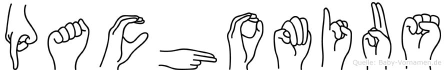 Pachomius im Fingeralphabet der Deutschen Gebärdensprache