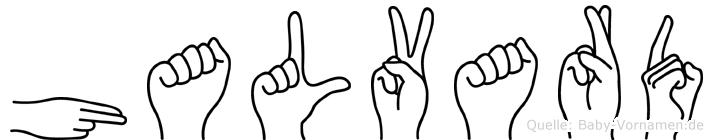 Halvard im Fingeralphabet der Deutschen Gebärdensprache