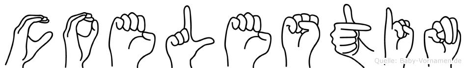 Coelestin in Fingersprache für Gehörlose