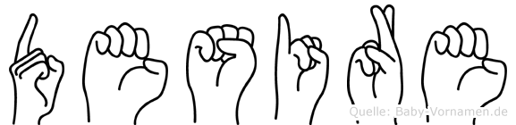 Desire im Fingeralphabet der Deutschen Gebärdensprache