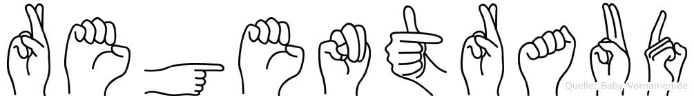 Regentraud in Fingersprache für Gehörlose