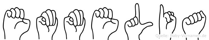 Emmelia in Fingersprache für Gehörlose