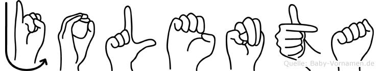 Jolenta in Fingersprache für Gehörlose