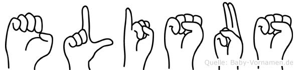 Elisäus im Fingeralphabet der Deutschen Gebärdensprache