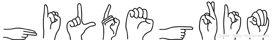 Hildegrim in Fingersprache für Gehörlose
