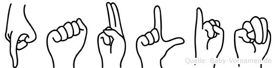 Paulin in Fingersprache für Gehörlose