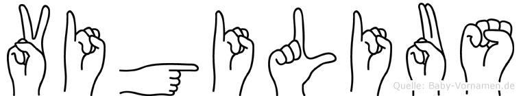 Vigilius in Fingersprache für Gehörlose
