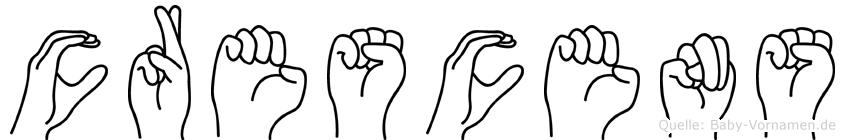 Crescens im Fingeralphabet der Deutschen Gebärdensprache