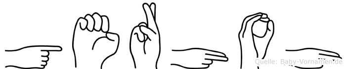 Gerhoh im Fingeralphabet der Deutschen Gebärdensprache