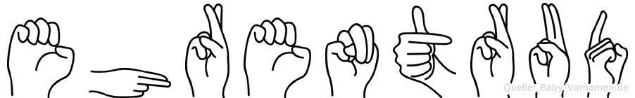Ehrentrud in Fingersprache für Gehörlose
