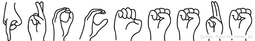 Processus im Fingeralphabet der Deutschen Gebärdensprache
