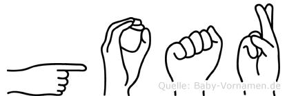Goar in Fingersprache für Gehörlose